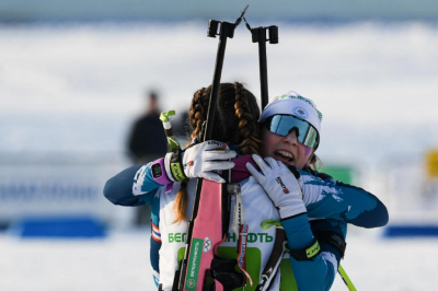 The team of Minsk region became the best at the stage of the Cup of the Belarusian Biathlon Federation